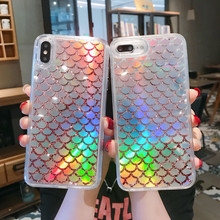 Phone Case For iPhone 11 Pro Max Case Luxury Cover For iPhone XR XS X 10 7 8 Plus 6 6S Case Bling Liquid Dynamic Quicksand Laser quicksand capinha case for iphone 7 8 6s plus makeup cosmetics dynamic liquid hard back cover for iphone x xr xs max capa ipone