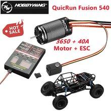 HobbyWing QuicRun Fusion 540 3650 1200KV/1800KV motore sensoriale Brushless costruito In ESC 40A per auto da arrampicata RC 1/10 (2 In 1)
