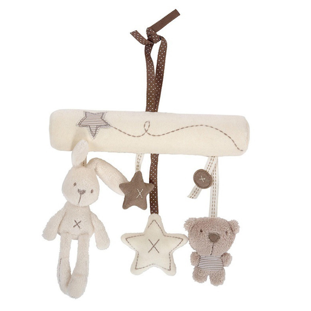 Image 2 - Baby Rattles Cute Soft Rabbit Bear Stars Bed Stroller Toy Musical Mobile Baby Toys Hand Bell Hanging Plush Doll Toy For Infant-in Baby Rattles & Mobiles from Toys & Hobbies