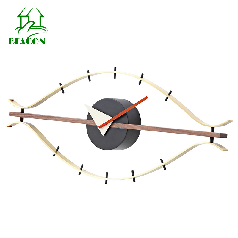Modern Large Wall Clock Metal Creative Eye Clock Nordic Wooden Wall Watches Home Decor Living Room Duvar Saati Gift Ideas SC568