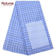 Encaje de gasa suizo 2020, tela de encaje Africana bordada de alta calidad, tela de tul de encaje de algodón nigeriano a la moda 1681