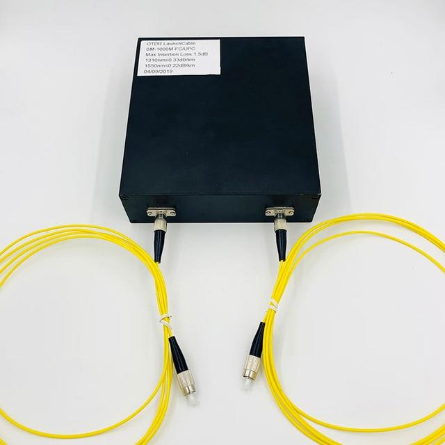 1000 メートル OTDR 起動ケーブルボックステスト延長線 OTDR シングル 9/125um 1310/1550nm 光ファイバ試験器