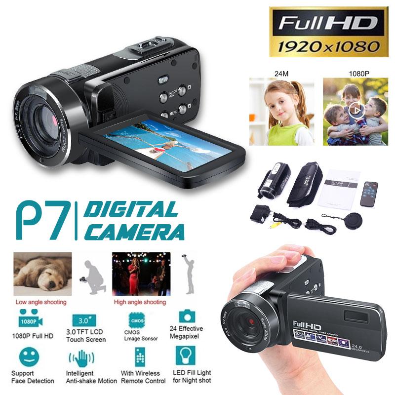 Cewaal P7 Full HD 4K 1080P Video Camera Professional Night Vision Anti Shake Digital Photo Vlog Camera Camcorder Flow Stabilizer
