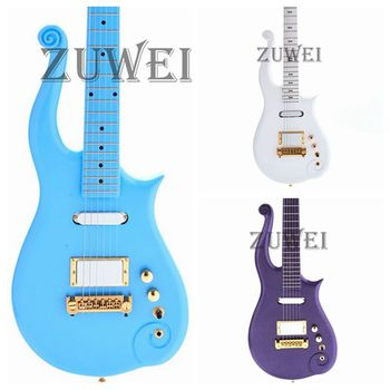 New Prince Electric Guitar CNC Made Body 22F Boble Style Gold Hardware Grover Tuner Solid body Multicolor Optional image