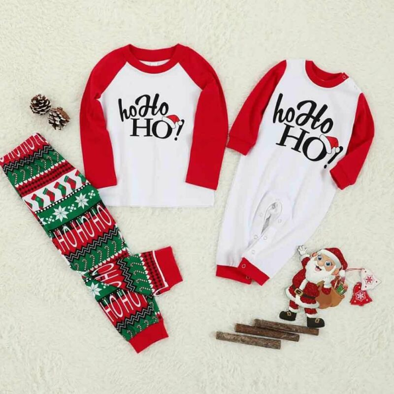 Family Christmas <font><b>Pajamas</b></font> XMAS Letter Print Adult Women Kid Family Matching <font><b>Mother</b></font> <font><b>Daughter</b></font> Clothes Christmas <font><b>Pajamas</b></font> <font><b>Set</b></font> Outfits image