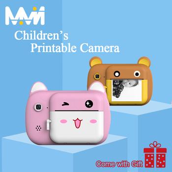 Aparat fotograficzny dla dzieci aparat Polaroid dla dzieci IPS do druku 2400W Pixel aparat cyfrowy HD zabawka dla dzieci malowanie aparatu najlepszy prezent tanie i dobre opinie 2x Obiektyw-Style Kamery Full hd (1920x1080) CMOS 4 3 cali 4 5-54mm 24 0MP Karta sd Ekran HD 2 -3 Zdjęcie JPEG Wideo AVI Audio WAV