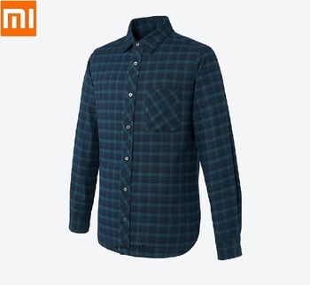 Xiaomi Quality Classic Plaid Men woman T-Shirt Cotton Spring Autumn Casual Long Sleeve Soft Comfort Slim Dress Shirts Smart home