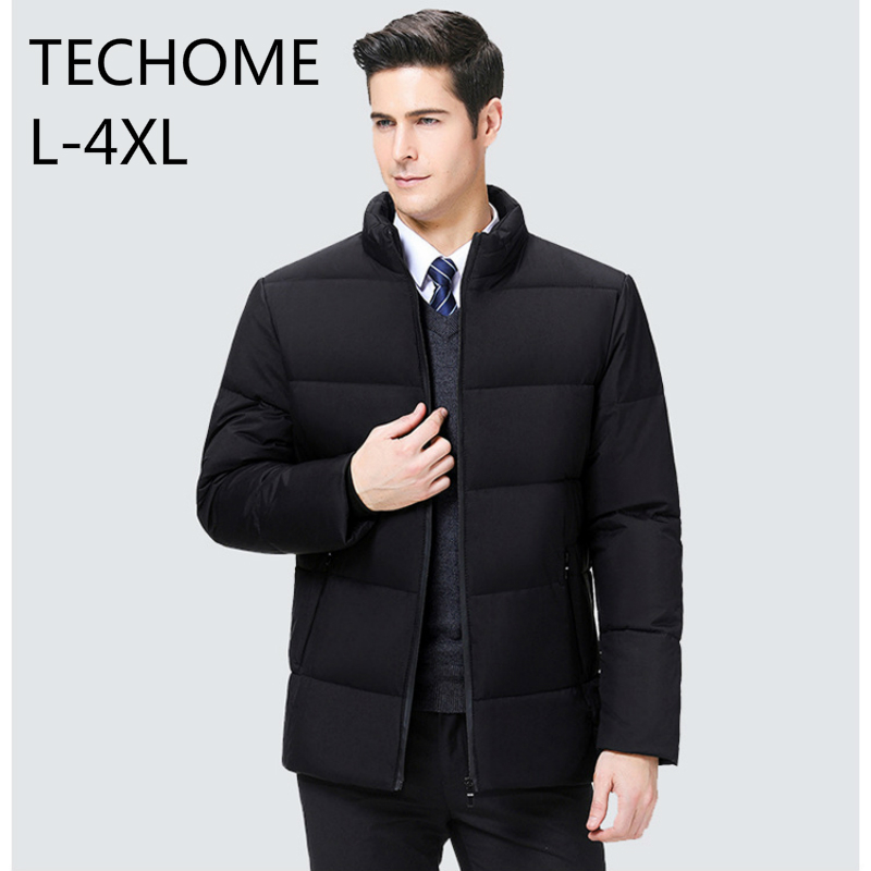 Mens Winter Warm Parka Winter Button Thick Casual Coat Outwear Down Jacket