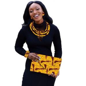 Image 5 - סט תכשיטים אפריקאי שעוות הדפסה תכשיטי ניגרי חתונה אפריקאית חרוזים תכשיטי סט מותאם אישית