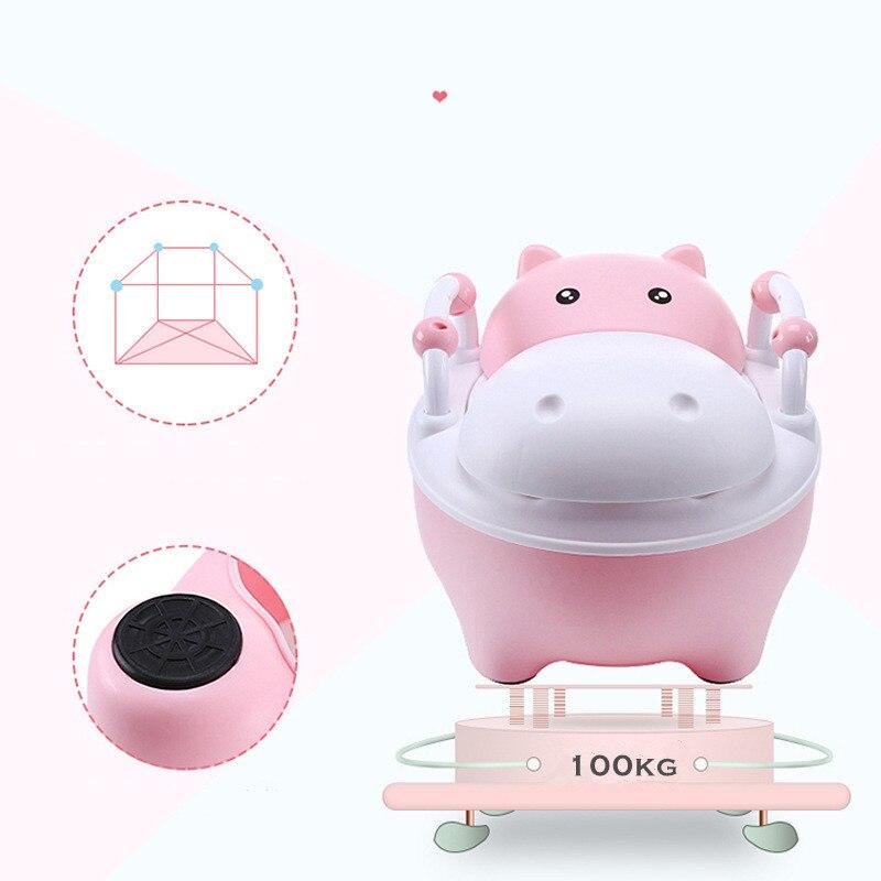 Baby Potty Toilet WC Kids Training Seat Chair Portable Cute Hippopotamus Design Travel Pot Children Toilet With Free Potty Brush | Happy Baby Mama