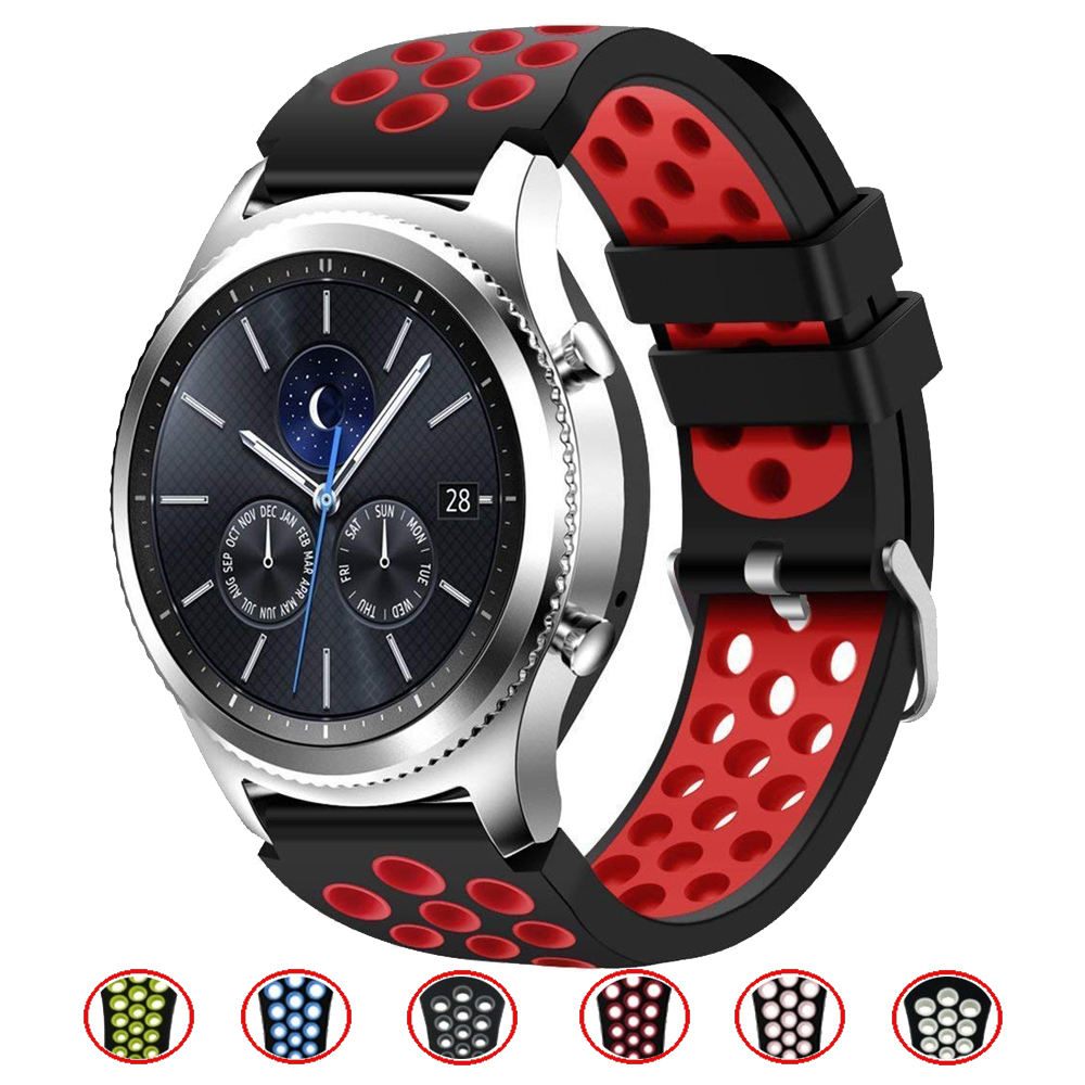 22 Watch Band For Samsung Galaxy Watch 46mm Gear S3 Frontier/Classic Silicone Wrist Rubber Strap Bracelet Belt Accessories