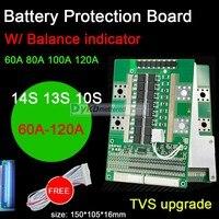 DYKB 14S 13S 10S 36V 48V 리튬 이온 Lipo 리튬 배터리 보호 보드 BMS 60A 80A 100A 120A 고전류 방전 W 밸런스 LED