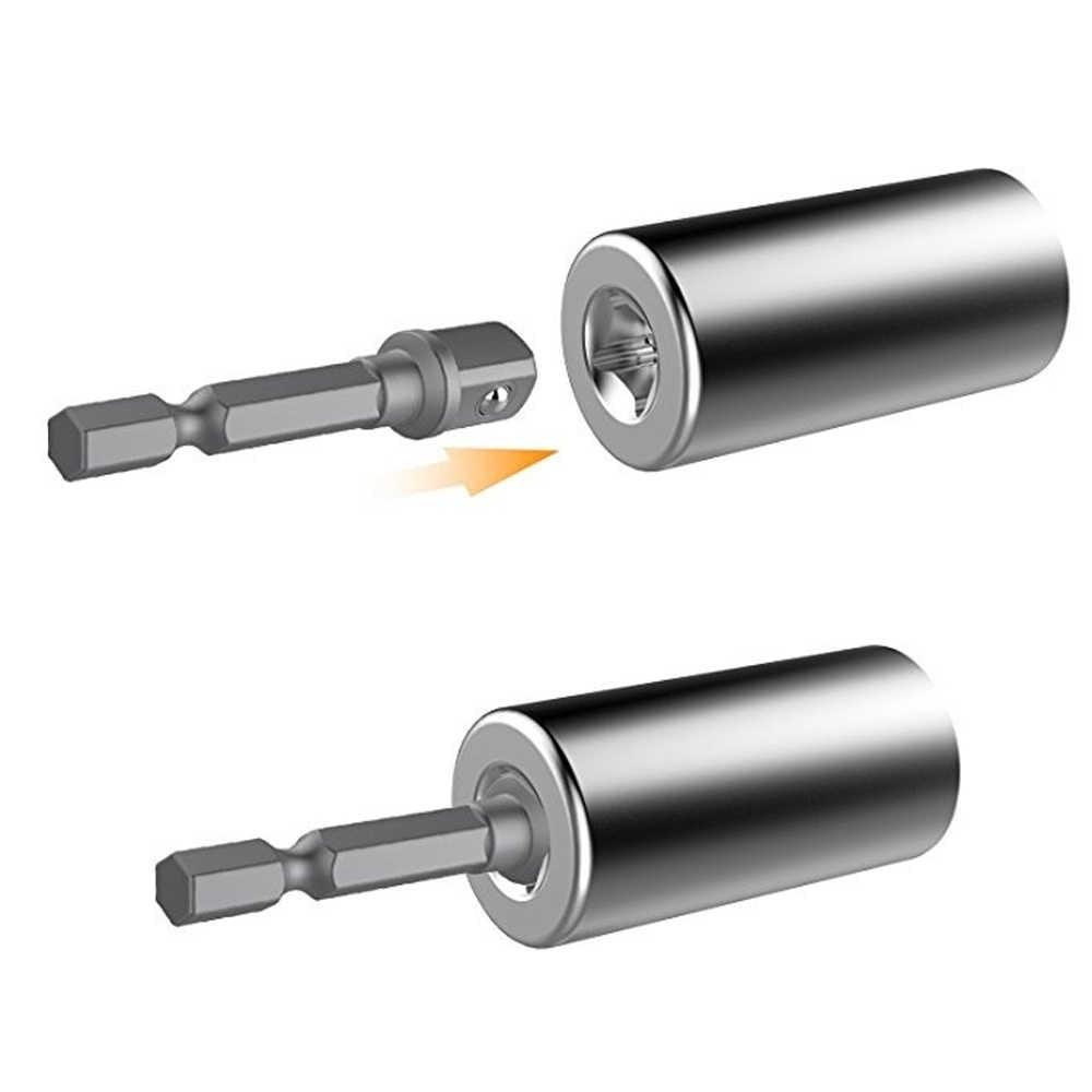 Universele Momentsleutel Hoofd Set Socket Mouw 7-19 Mm Power Boor Ratchet Bus Spanner Key Magic Multi Hand gereedschap Metric