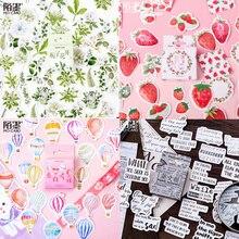 Stickers Kawaii Planner-Label Decorative Scrapbook School-Supplies Vintage Stationery