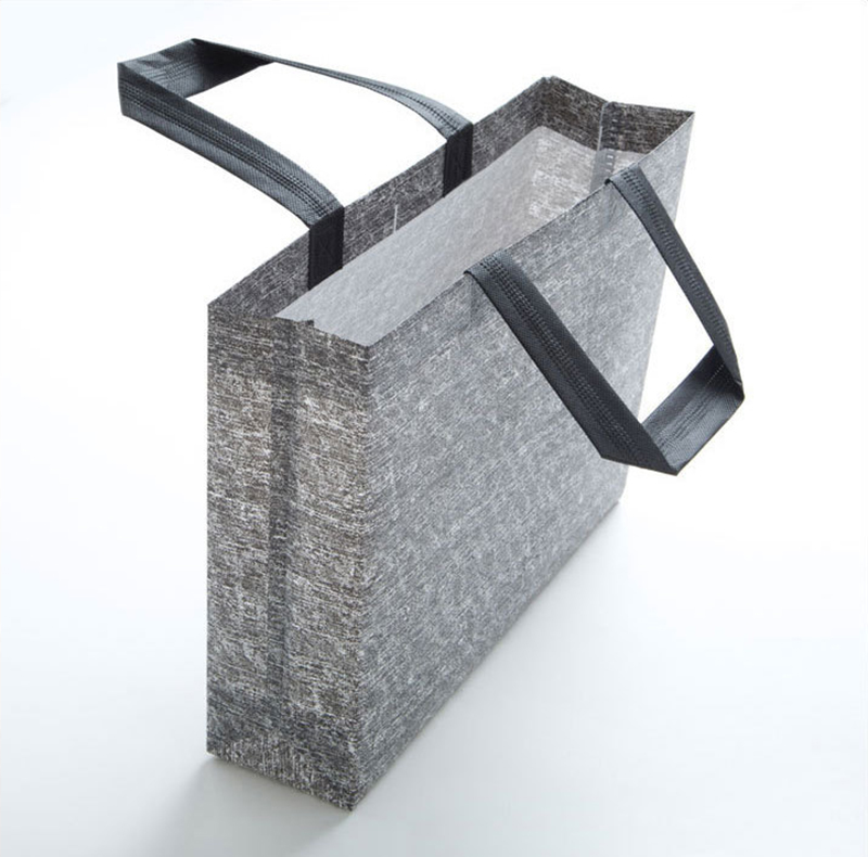Grey Reusable Shopping Bag Women Large Capacity Non-Woven Fabric Shopping Bag Tote Grocery Bag Durable Solid Eco Friendly Pouch