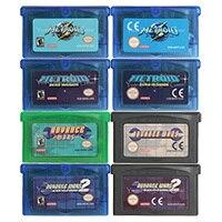 32 Bit Trò Chơi Hộp Mực Tay Cầm Thẻ Metroi Series Bằng Không Missio Hoa Kỳ/EU Phiên Bản Dành Cho Máy Nintendo GBA