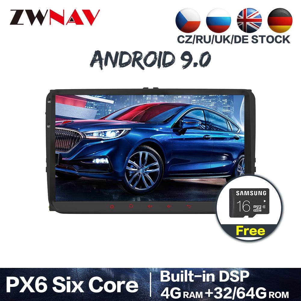 PX6 Android 9,0 автомобильный мультимедийный плеер 2 Din для VW/Volkswagen/Golf/Polo/Tiguan/Passat/b7/b6/leon/Skoda/Octavia радио стерео gps