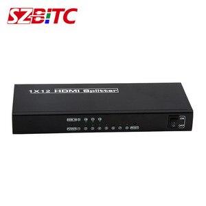 Image 3 - Szbitc 4K Hd Splitter 1X12 Video Wall Controller Distributeur 1 In 12 Out 4K @ 30Hz Edid RS232 Voor Pc Dvd Lcd, plug En Play