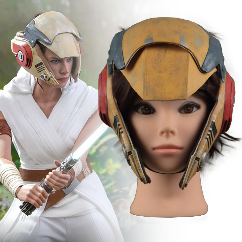 Star Wars 9 The Rise Of Skywalker Rey Helmet Cosplay Mask Masquerade Props Latex Masks