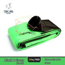 30m/98ft KITE TUBE TAIL For Delta Kite/Stunt /Software Kites Flying Toys Black & Green Nylon Kite Outdoor Accessories недорого