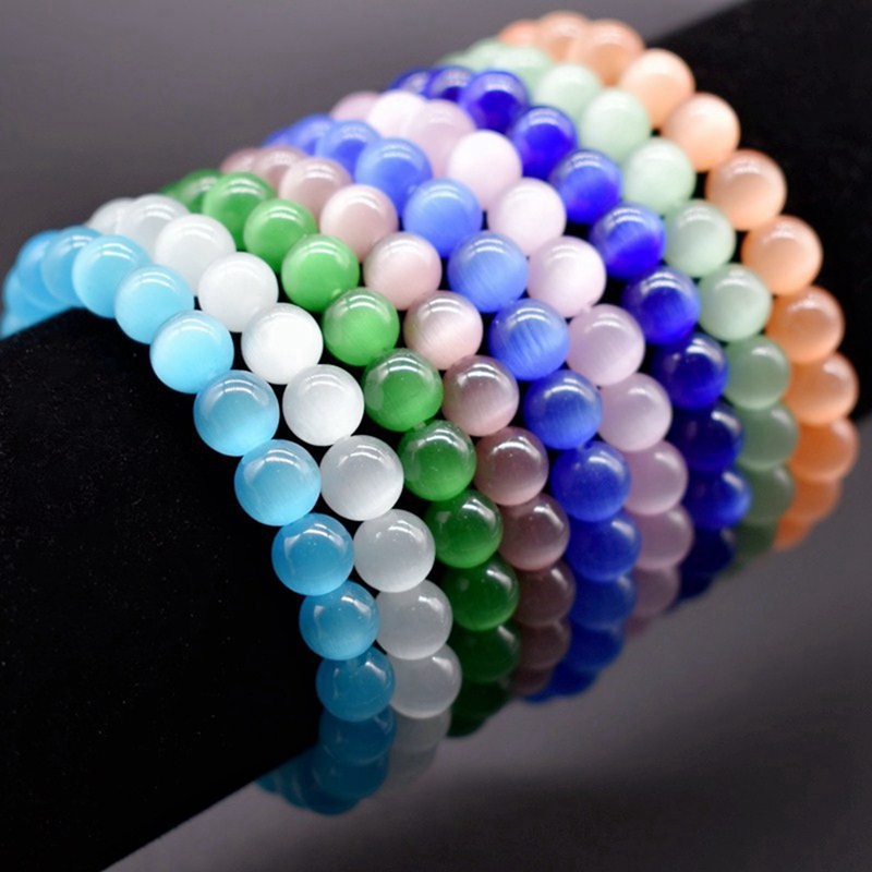 Opal Bracelet Cat Eye Beads Bracelet Men Jewelry Braslet Stone Man Bracelets & Bangles Pulseira Masculina Pulseras de moda