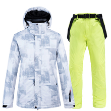 Ski Suit Men Winter Men Brand Warm Windproof Waterproof Outdoor Sports Snow Jackets and Pants Hot Ski Equipment Snowboard Jacket цена в Москве и Питере