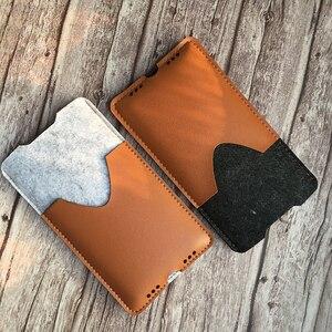 Image 3 - Telefon çantası, samsung Galaxy Note10 artı 6.8 Ultra ince el yapımı yün keçe telefon kılıfı kapak için Galaxy Note10 artı aksesuarları