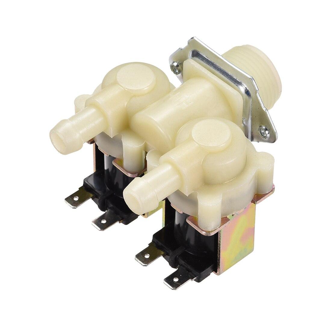 Uxcell Электрический электромагнитный клапан DC12V/24 В G3/4x12 мм Барб пластик NO/NC давление воды на входе переключатель потока