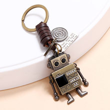 Interesting Simple Personality, Retro Knitting Hands And Feet, Movable Robot Keychain, Creative Girl Bag Pendant
