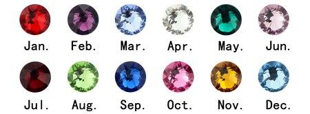 AILIN personnaliser nom anneaux avec pierre de naissance personnalisé nom anneaux en argent Sterling anneaux bijoux pour femmes nom de famille anneaux - 5