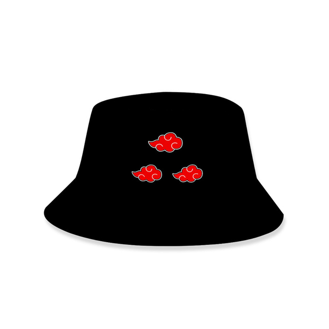 Red Cloud Printed Bucket Hat Women Men Outdoor Summer Hiking Fishing Hat Panama Naruto Akatsuki Fisherman Hat Cap