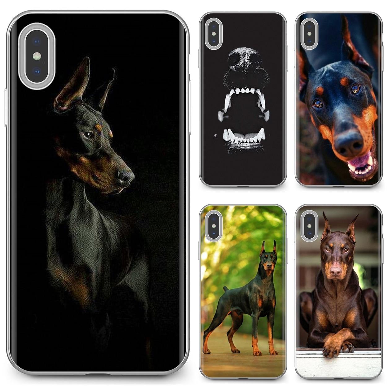 For Huawei Mate Honor 4C 5C 5X 6X 7 7A 7C 8 9 10 8C 8X 20 Lite Pro Pinscher Doberman Dog Tongue Face Art Buy Silicone Phone Case(China)