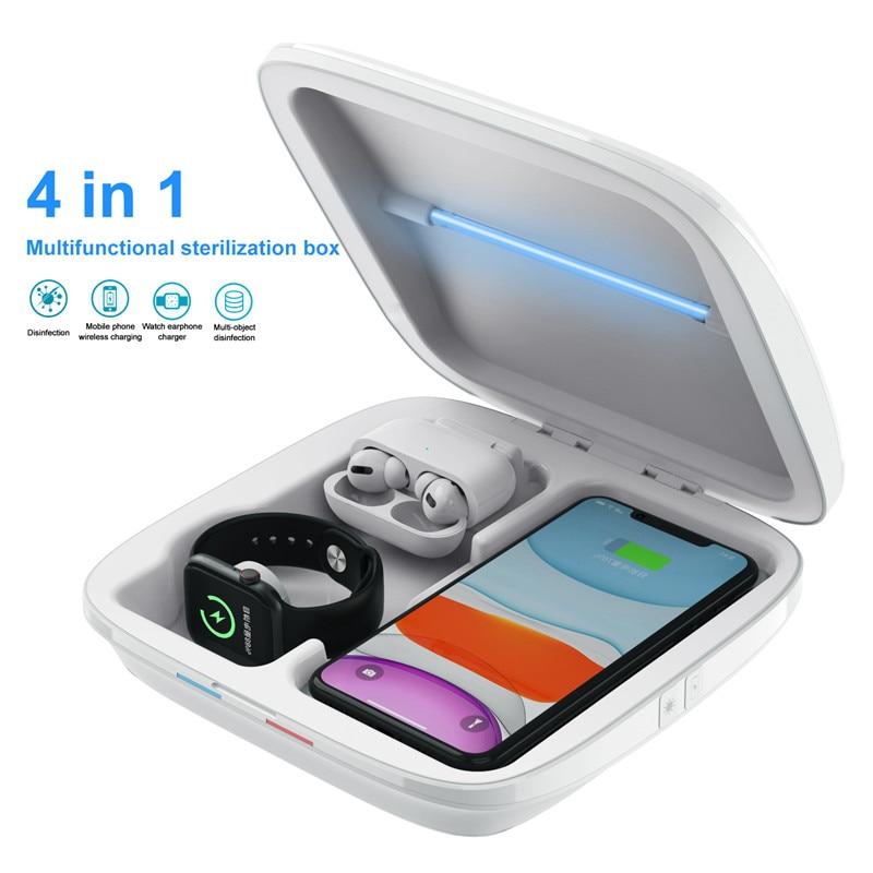 4 In 1 Multifunctional UV Sterilizer Box Lamp Mobile Phone USB Charger UV Sterilization Light Jewelry Toy Sterilization Box