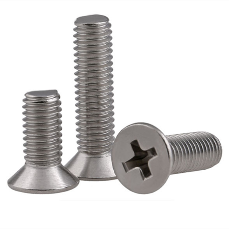 10/50 M2 M2.5 M3 M3.5 M4 M5 M6 M8 304  Stainless Steel GB819 Cross Phillips Flat Countersunk Head Screw Bolt Length 3-100mm