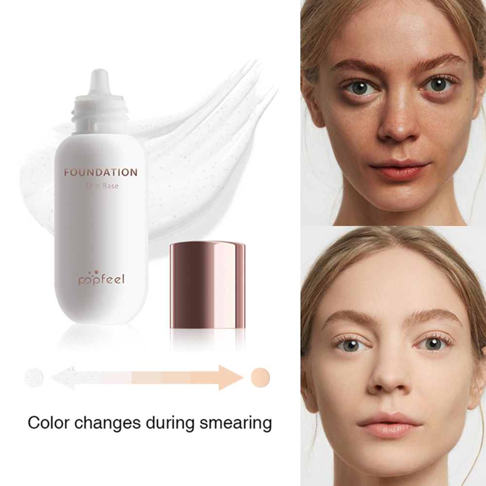 2020 Popfeel New Face Foundation Color Changing Liquid Foundation Oil-control Primer Makeup Base Cream Lazy Beauty Cosmetics
