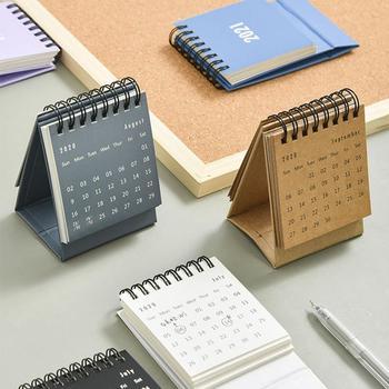 2021 Delicate Simple Desk Calendar Refreshing Mini Office School Calendar Book Coil Supplies Desktop Note J6D6 1