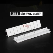 10 шт. ZB5 Zack маркерные полосы со стандартной нумерацией с пустым для Великобритании серии и ST и PT din-рейку клеммные блоки белый CZYC