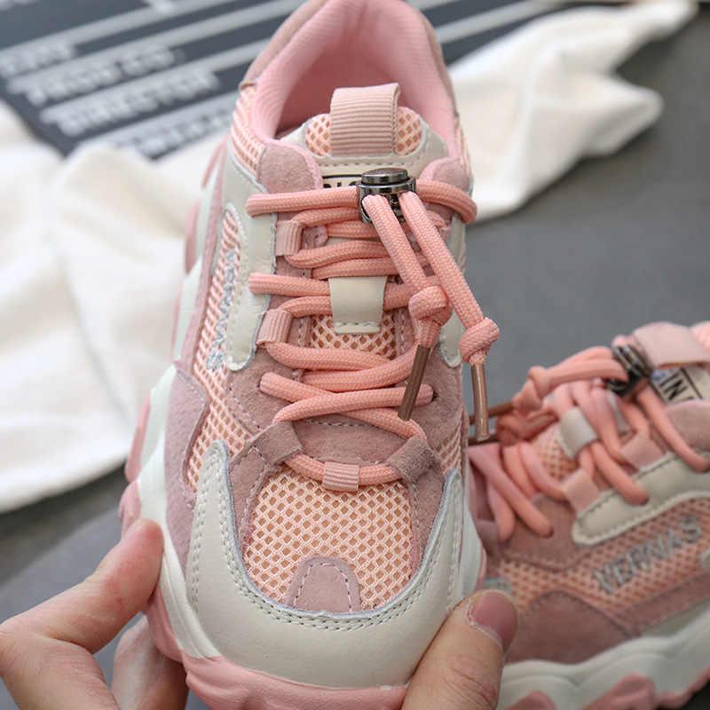 ילדים ספורט סניקרס בני מותג ריצה נעלי תינוק בנות להחליק על נעלי סניקרס ילדים שחור שמנמן סניקרס מאמני אביב