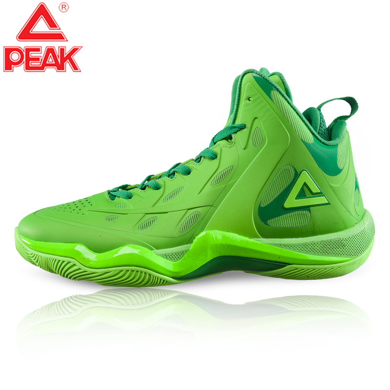 PEAK Men's Basketball Shoes Cushioning Stable High Heels Non-slip Outsole Sneakers Challenger Protective Ankle Basketball Shoes