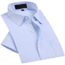 Formal Shirts Short Sleeve Top Quality White Slim Fit Men Bu
