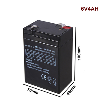 6V 4AH Battery Lead Acid Rechargeable Storage Batteries Power Supply for Children's Car Desk Lamp LED Lights Electronic Scales