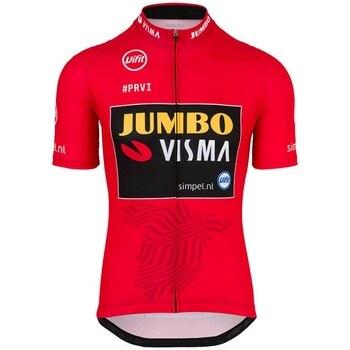Pro Equipo Jumbo Visma VUELTA rojo Jersey para Ciclismo Maillot De Escocia MTB Ropa De Bicicleta De Secado Ropa De Ciclismo