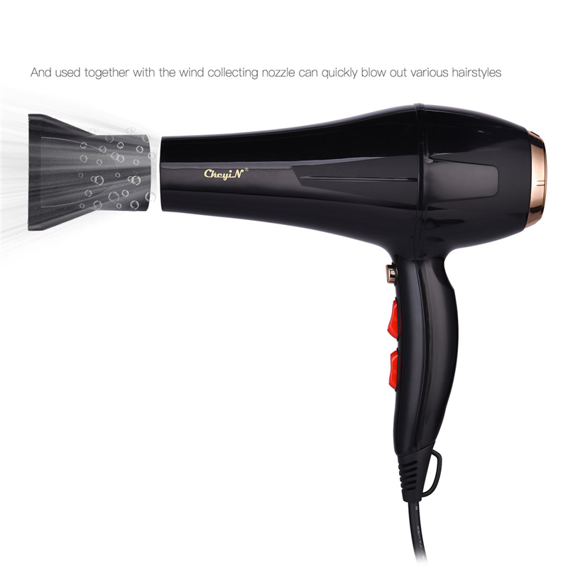 Image 2 - 5000W Negative Ion Hair Dryer Professional Blue Light Anion Blow Dryer Salon Hair Styling Hairdryer 2 Speed 3 Heat Settings 31Hair Dryers   -