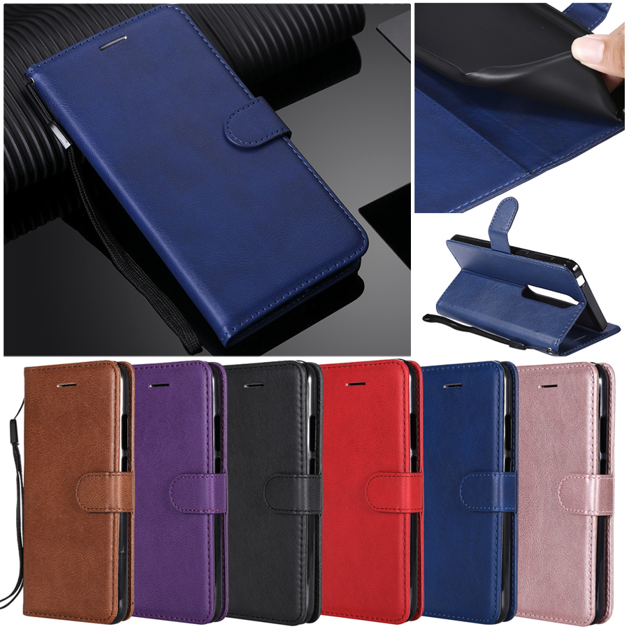 For etui <font><b>Nokia</b></font> 7.1 <font><b>8.1</b></font> 1 3.1 Plus <font><b>Case</b></font> Leather Cover for <font><b>Nokia</b></font> 3 5 9pure view 6 2018 4.2 7.1 3.2 n635 n640 <font><b>Cases</b></font> Coque Women Men image
