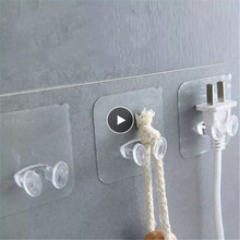 10PCS 5PCS Adhesive Hooks Rack Wall Hanger Space Saver Flower Heavy Load Transparent Strong Self Strong Kitchen Bathroom Towel
