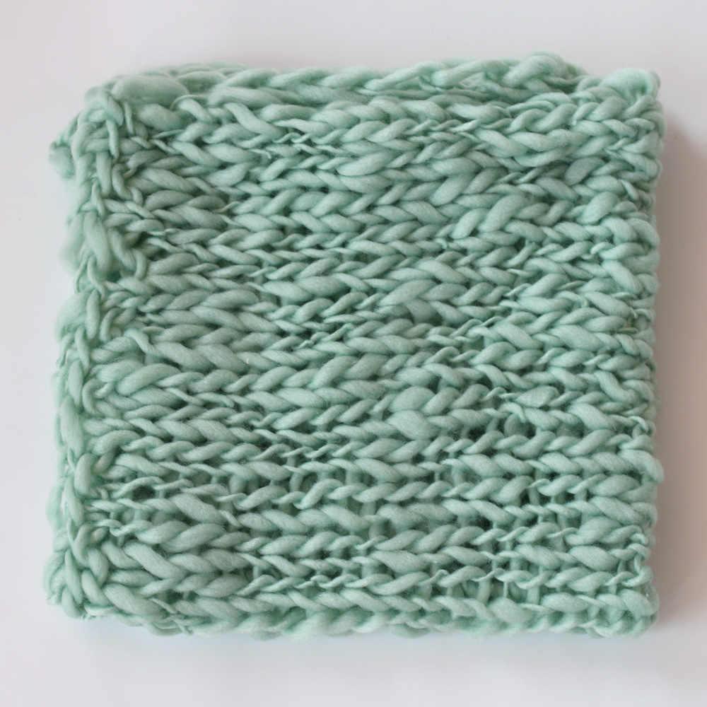 Crochet Coperta di Lana Servizio Fotografico Per La Fotografia Neonato Puntelli Del Bambino Photoshoot Studio Flokati Photoshoot Fotografia Accessori