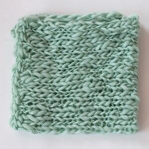 Одеяло из вязаной шерсти для фотосъемки новорожденных, реквизит для фотосъемки детей, аксессуары для фотостудии