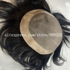 "Image 1 - Neitsi רמי קלטת שיער טבעי הרחבות זוגי Drawn ישר דבק בלתי נראה שיער 20 ""50 גרם אפור צבע"