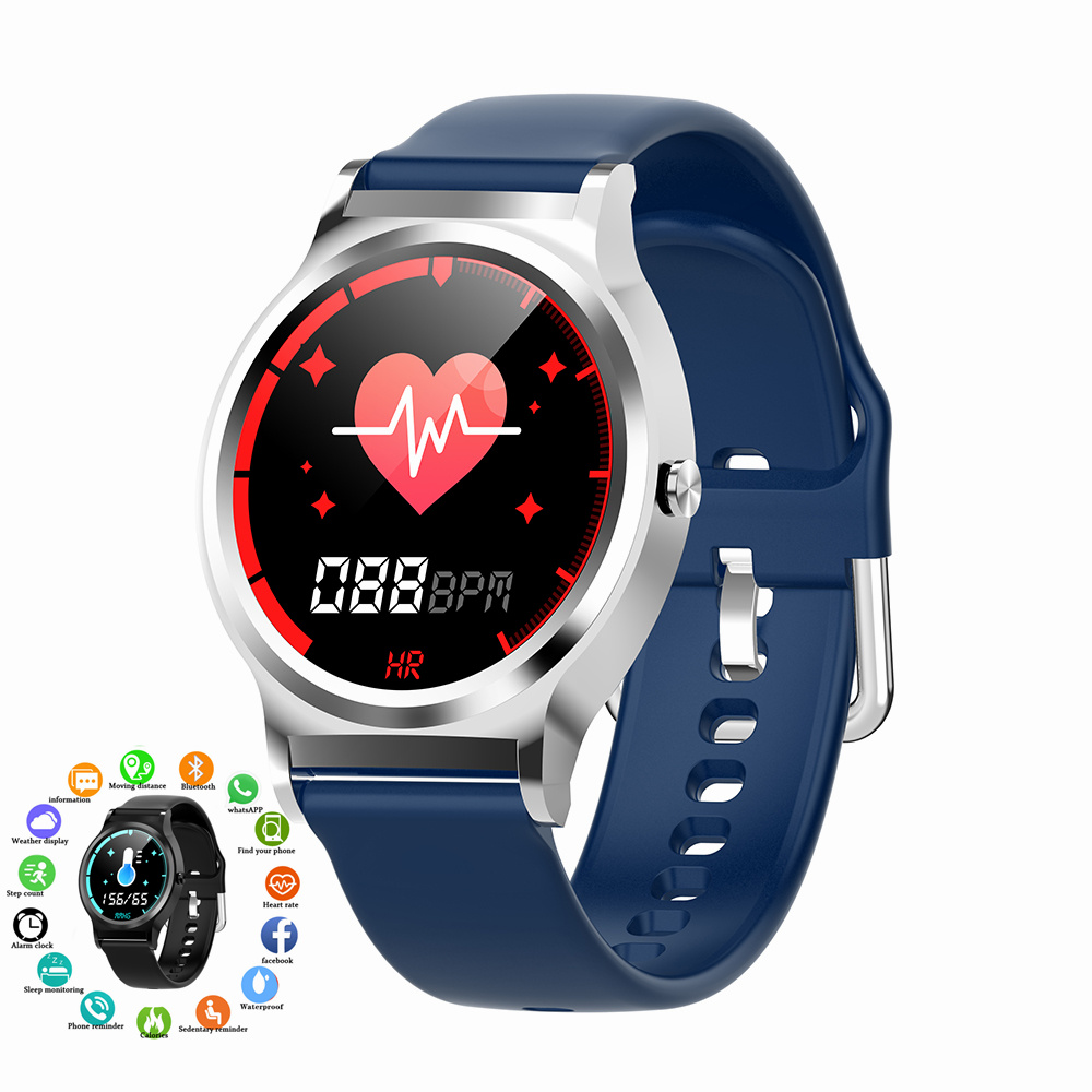 Smart Fitness Tracker 5 in 1 Health Bracelet Watch Heart Rate Blood Pressure Measurement Smartwatch Band Clock for Men Smartband
