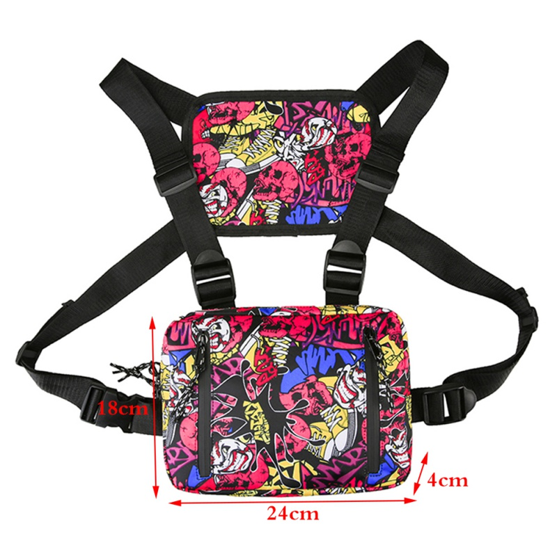 New! Simple Generous Backpack Outdoor Bag Oxford Multifunctional Chest Bags With Zipper Fashion Adjustable Accessories